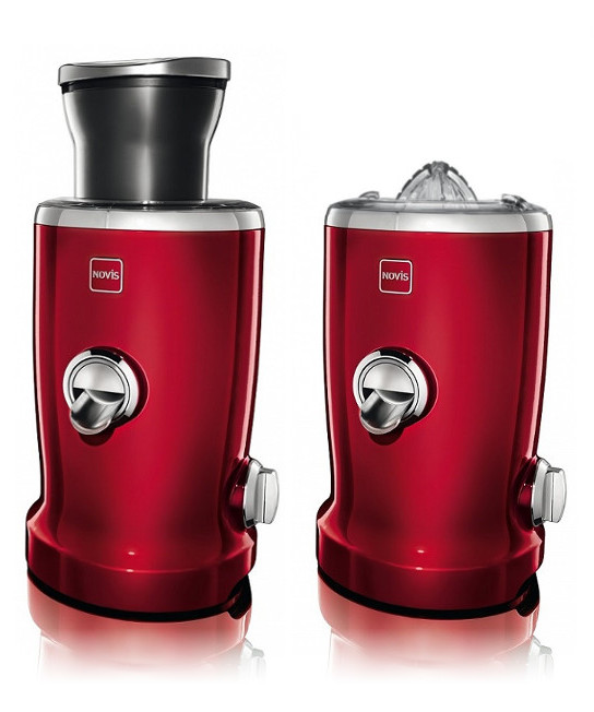 Novis Vita Juicer wyciskarka do soków cherry red